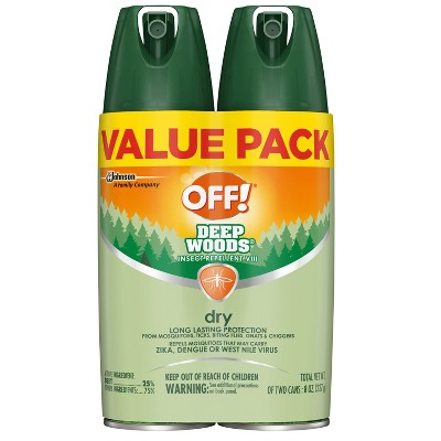 OFF! Deep Woods Dry Insect Repellent VIII - 2ct/4oz
