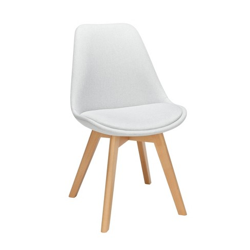 Swell 18 Set Of 2 Fabric Mid Century Modern Dining Chairs With Seat Cushion Solid Beechwood Legs Light Gray Ofm Pabps2019 Chair Design Images Pabps2019Com