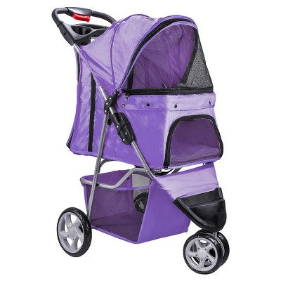 Paws & Pals 3-Wheel Jogger Pet Stroller - Purple