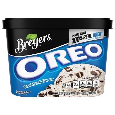 Breyers Blasts Oreo Cookies and Cream Frozen Dairy Dessert - 48oz