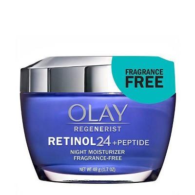 Olay Regenerist Retinol 24 + Peptide Night Face Moisturizer  Fragrance-Free - 1.7 fl oz
