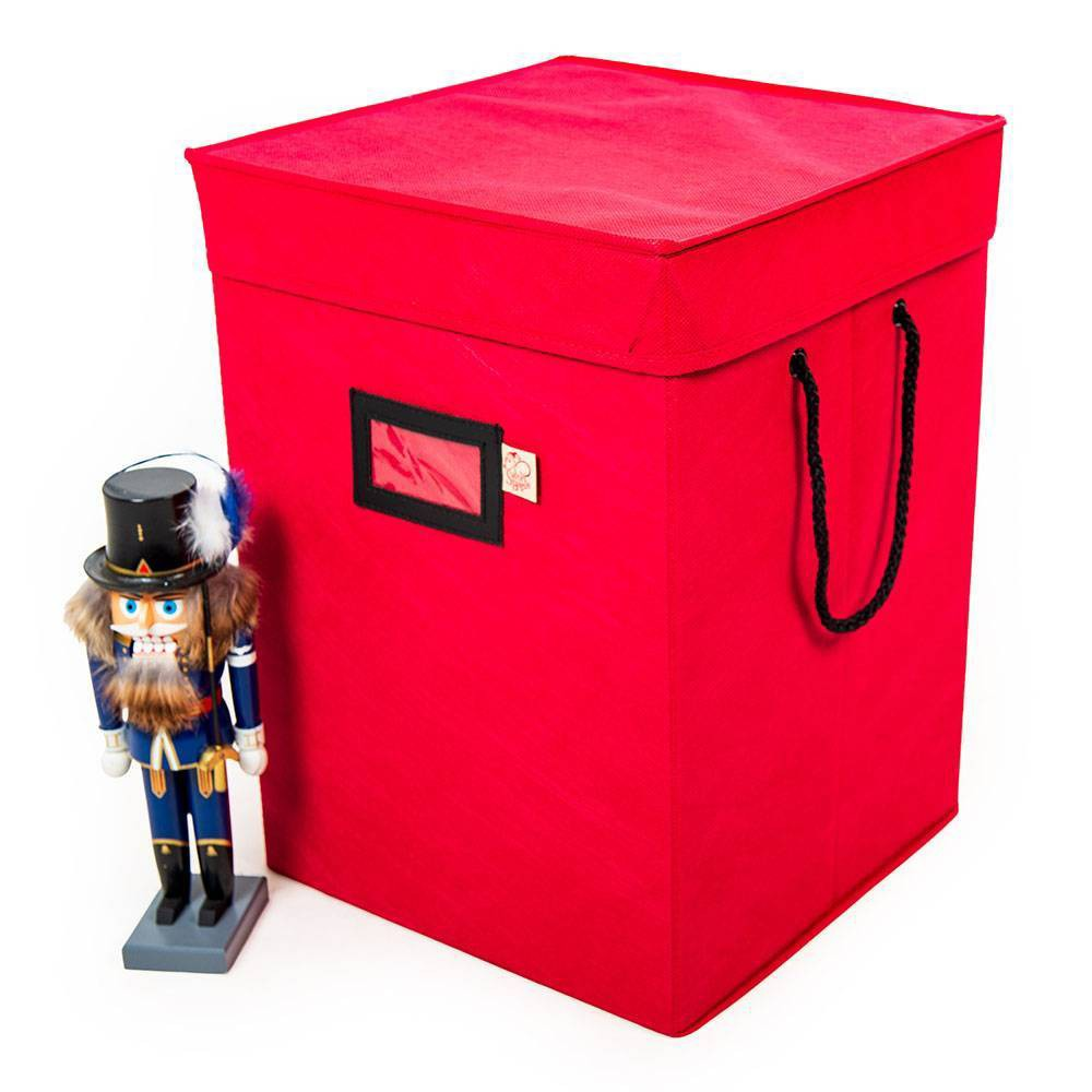 "Image of ""17"""" Nutcracker Collectibles Storage Box - Tree Keeper, Red"""
