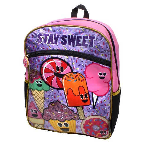 "EmojiNation 16"" Stay Sweet Backpack - Pink - image 1 of 3"