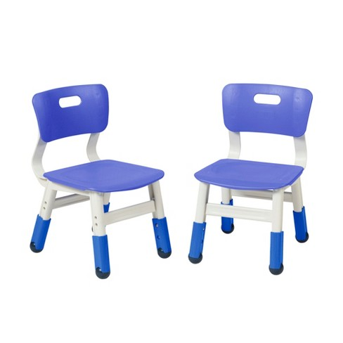 Brilliant Ecr4Kids Resin Classroom Chairs Plastic Indoor Kids Seating With Adjustable Seat Height Blue 2 Pk Forskolin Free Trial Chair Design Images Forskolin Free Trialorg