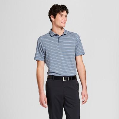 Men's Striped Golf Polo Shirt - C9 Champion® Cruising Blue Heather L