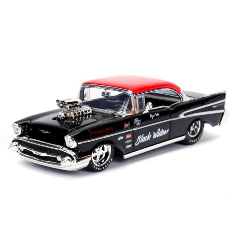 Jada Toys Big Time Muscle 1957 Chevy Bel Air Die-Cast Vehicle 1:24 Scale Glossy Black - image 1 of 4
