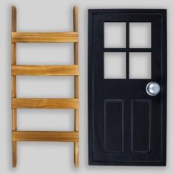 2pc Door & Ladder Decor - Bullseye's Playground™