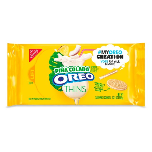 Oreo Thins Pina Colada Sandwich Cookies - My Oreo Creation - 10.1oz - image 1 of 2