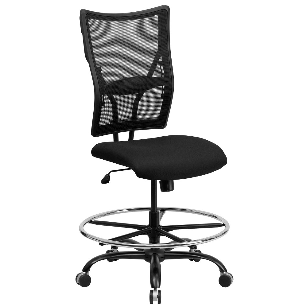 Wondrous Hercules Series 400 Lb Capacity Big Tall Drafting Chair Theyellowbook Wood Chair Design Ideas Theyellowbookinfo