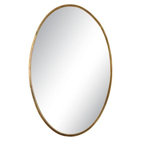 Oval Herleva Decorative Wall Mirror Gold - Uttermost : Target