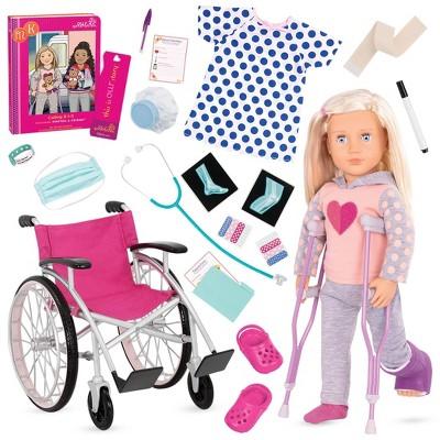 "Our Generation 18"" Doll with Wheelchair - Martha & Heals on Wheels Bundle"