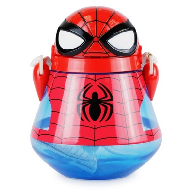 Disney Spider-Man 22oz Plastic Flip Top Tumbler with Strap Red