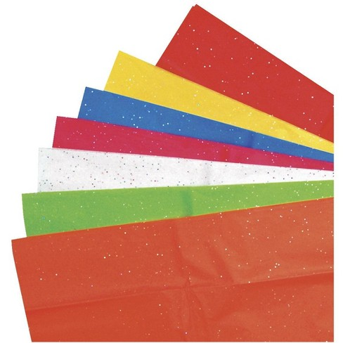 Kolorfast Non-Bleeding Glitter Tissue, 20 x 24 inch, Assorted Color, 14 Sheets - image 1 of 1