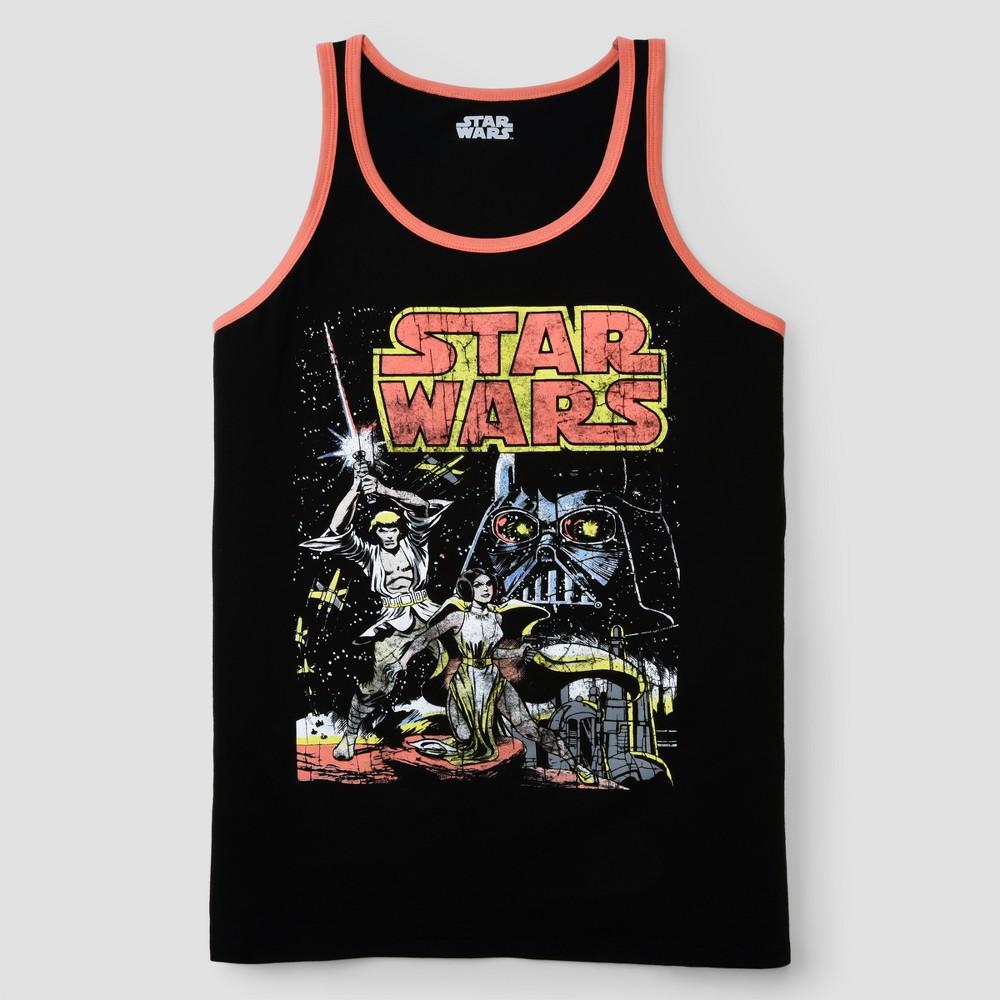 Men's Star Wars Cover Tank Tops - Black L