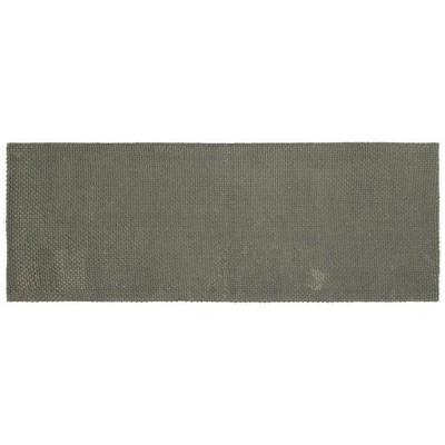 "22""x60"" Low Chenille Memory Foam Bath Rug Dark Gray - Threshold™"