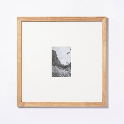 """15""""x 15"""" Matted to 4"""" x 6"""" Gallery Frame Natural Wood - Threshold™ designed with Studio McGee"""