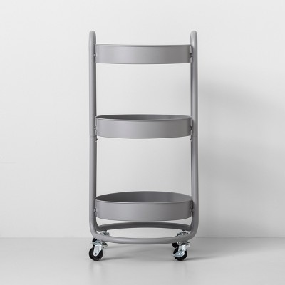 Round Metal Utility Cart Gray - Made By Design™