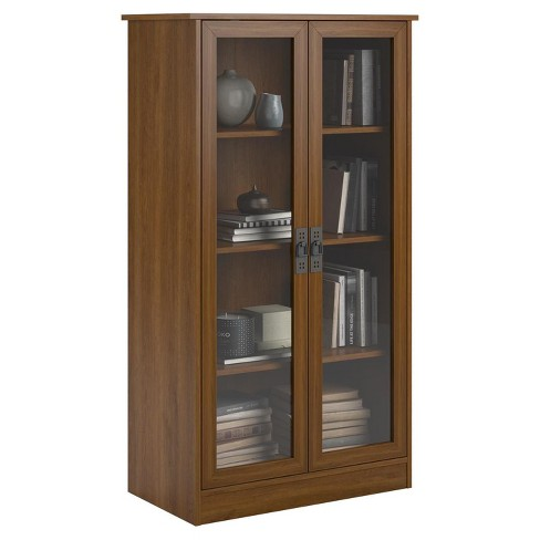 53 Auburn Hill Bookcase With Glass Doors Room Joy Target