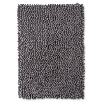 24  x 17  Chunky Chenille Memory Foam Bath Rug Pigeon Gray - Room Essentials™