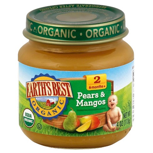 Earth's Best Organic Pears & Mangos Baby Food - 4oz - image 1 of 1