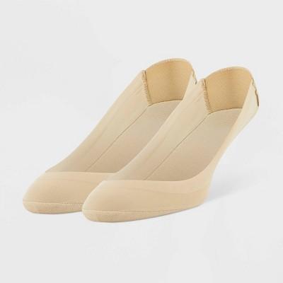 Peds Women's Cushion Heel 2pk Liner Socks - Beige Nude 5-10