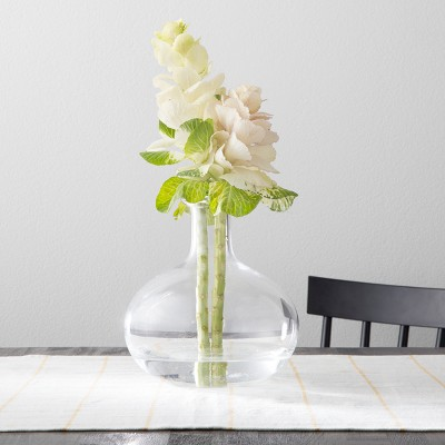 Vase with Folded Rim - Clear - Hearth & Hand™ with Magnolia