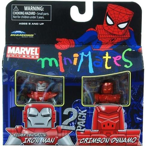 Marvel Minimates Series 36 Silver Centurion Iron Man /& Crimson Dynamo