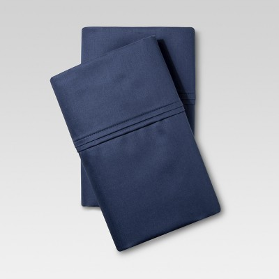 Performance Solid Pillowcase (Standard)Metallic Blue 400 Thread Count - Threshold™