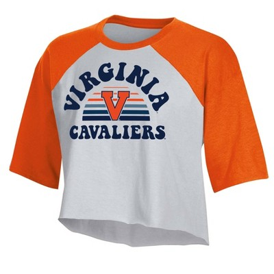 NCAA Virginia Cavaliers Women's Short Sleeve Cropped T-Shirt