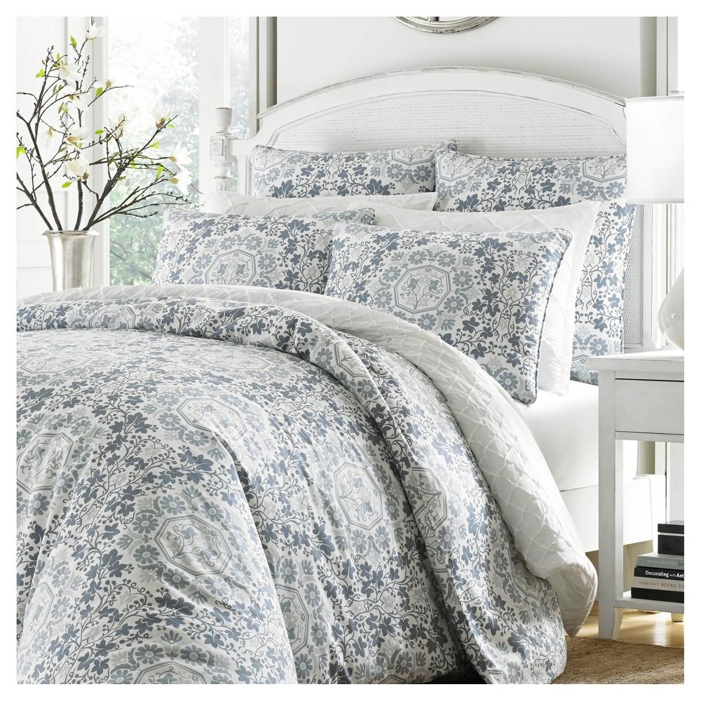 Pastle Blue Caldecott Comforter Set (Full/Queen) - Stone Cottage