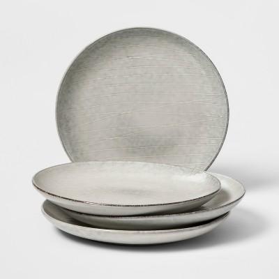 Solene Stoneware Salad Plate 8  Grey Set of 4 - Project 62™