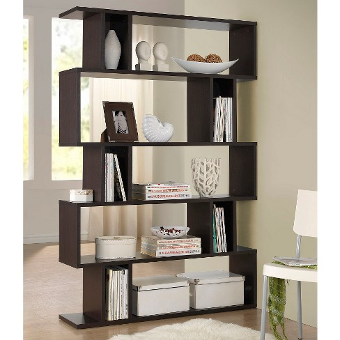Goodwin 6375 5 Level Modern Bookshelf Dark Brown