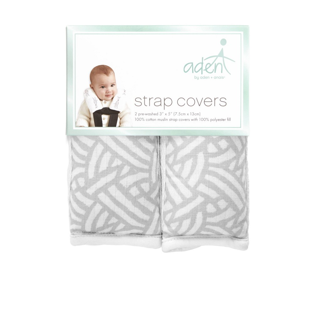 Image of aden by aden + anais Car Seat Strap Covers - Pasture