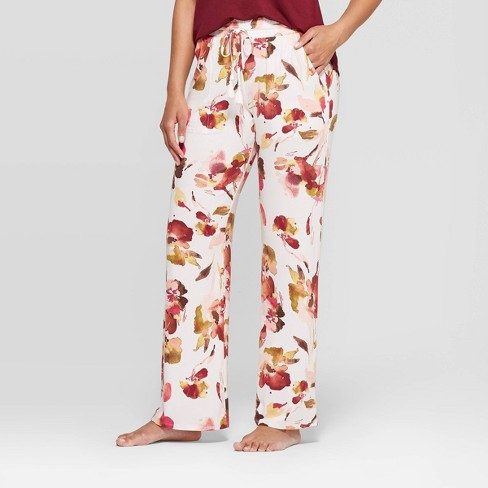Women's Floral Print Beautifully Soft Pajama Pants - Stars Above™ Blithe Pink - image 1 of 2