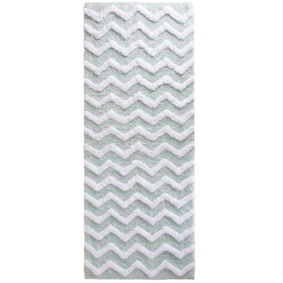 Chevron Bathroom Mat Seafoam - Yorkshire Home