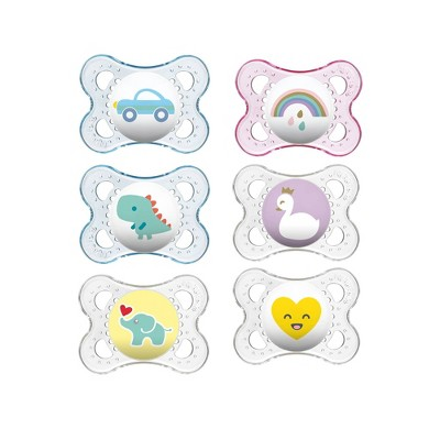 MAM Clear Orthodontic Pacifier - 0-6 Months - 3ct