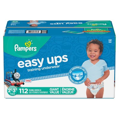 Pampers Easy Ups Boys Training Pants Giant Pack 2T-3T (112ct)