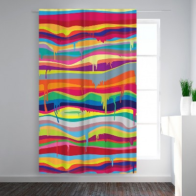 Americanflat The Melting by Joe Van Wetering Blackout Rod Pocket Single Curtain Panel 50x84