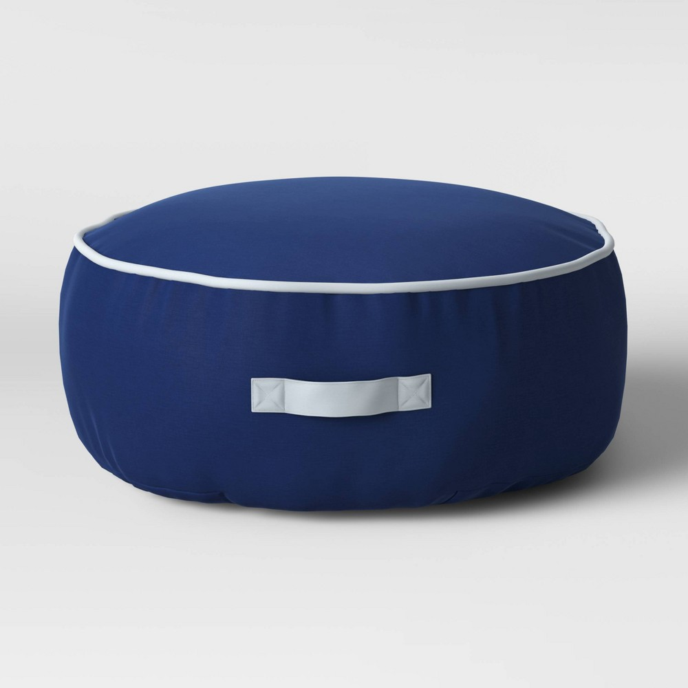 Image of Kids Floor Cushion with Handle Navy - Pillowfort