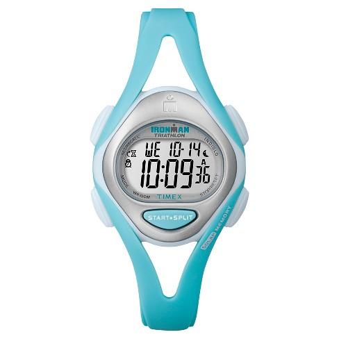 Women's Timex Ironman Sleek 50 Lap Digital Watch - Blue T5K701JT - image 1 of 1