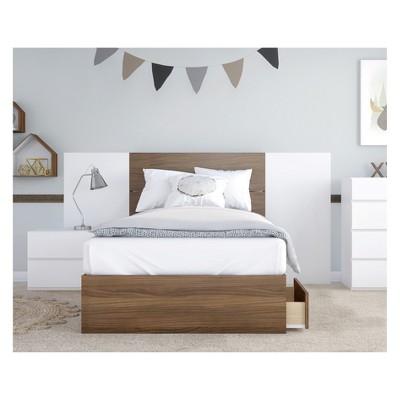 4pc Twin Hera Bedroom Set Light Brown/White - Nexera