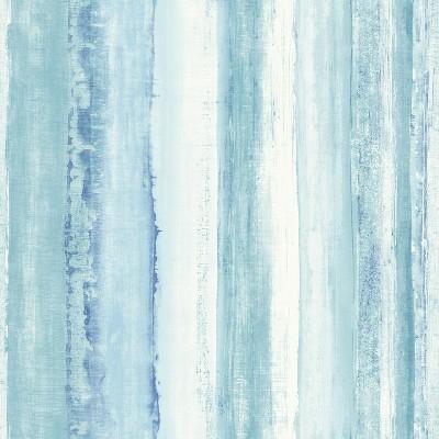 RoomMates Watercolor Stripe Peel & Stick Wallpaper Blue