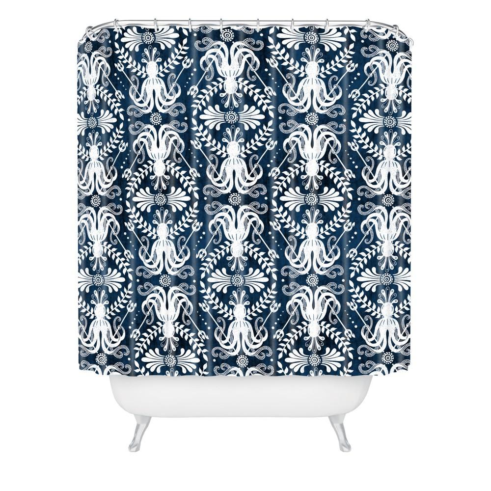 Mythos Shower Curtain Blue - Deny Designs