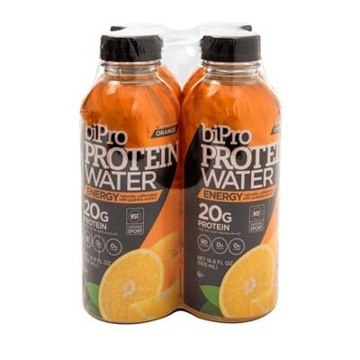 BiPro Protein Water - Orange + Caffeine - 4ct/16.9 fl oz