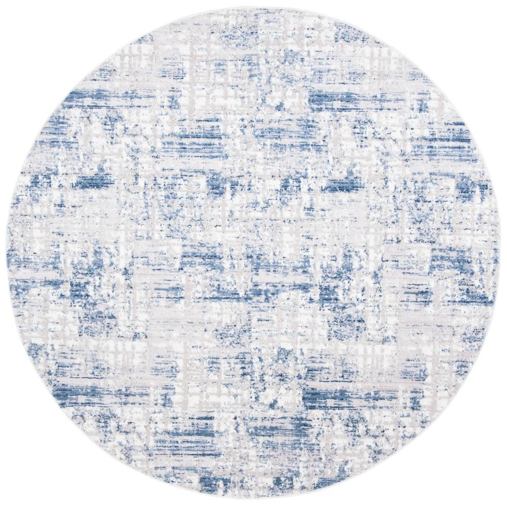 6 39 7 34 Round Pilar Rug Blue Gray Safavieh