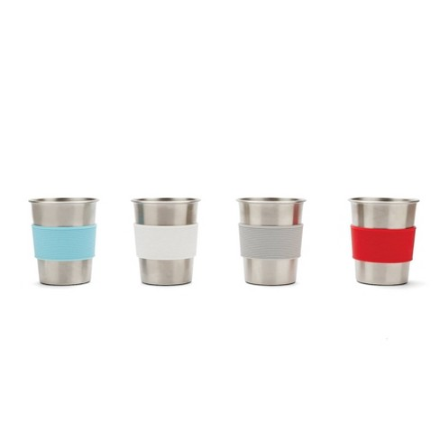 Red Rover 10oz 4pk Stainless Steel Kids Tumbler Cups - image 1 of 4