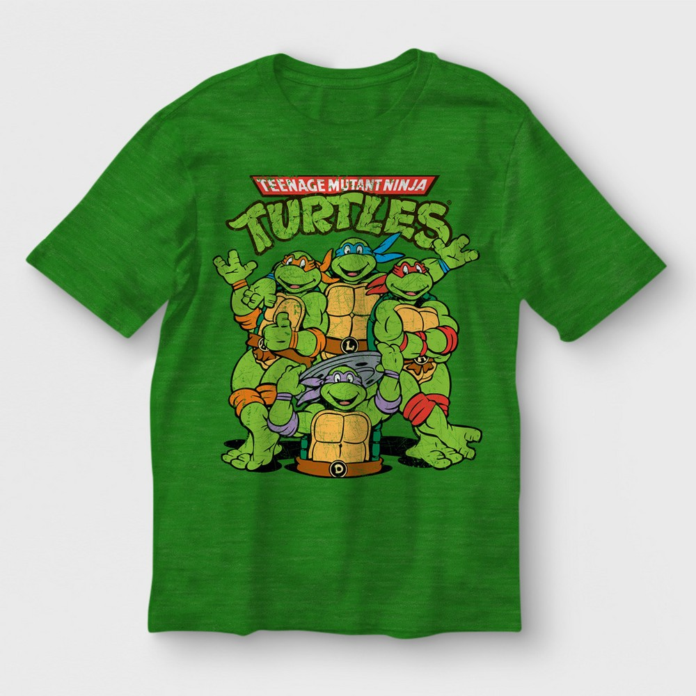Boys' Teenage Mutant Ninja Turtles Short Sleeve T-Shirt - Green L