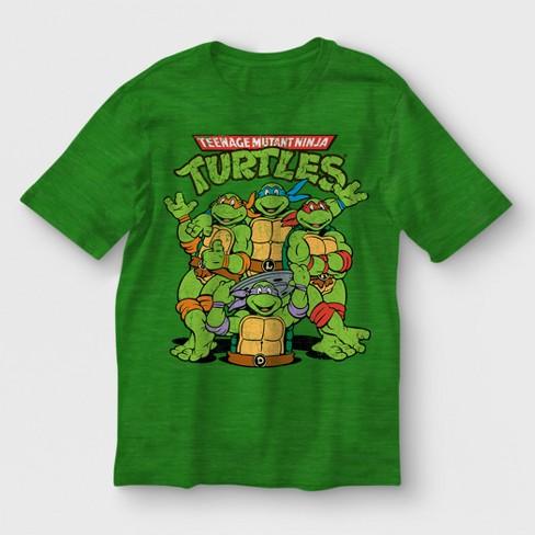 8a8efcb7c Boys' Teenage Mutant Ninja Turtles Short Sleeve T-Shirt - Green : Target