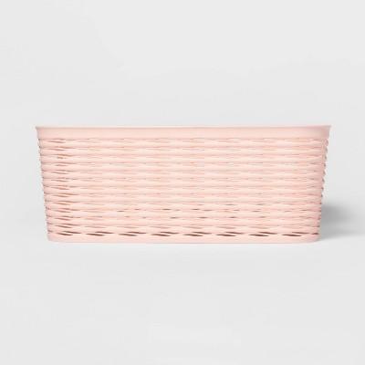 Wave Medium Rectangle Storage Bin Blush - Room Essentials™