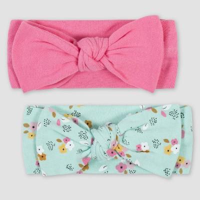 Gerber Baby Girls' 2pk Fox Headband - Pink